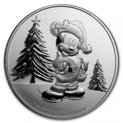 NIUE 1 oz silver Mickey Mouse CHRISTMAS 2019 $2