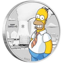Homer Simpson 2020 1/2oz Silver Coloured Coin in Card
