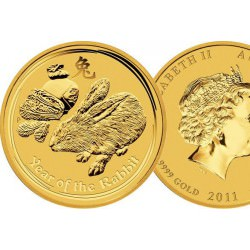 1/20 oz gold LUNAR RABBIT 2011