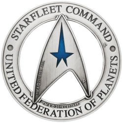 Starfleet Command Emblem 2019 3oz Silver Holey Dollar & Delta Coin Set