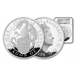 BREXIT SALE U.K. 10 oz silver RED DRAGON OF WALES 2018 PROOF £10 NGC PF69 ULTRA CAMEO