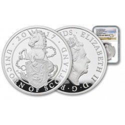 10 oz silver Queen's Beast 2017 UNICORN £10 PROOF NGC PF69UCFS