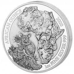 1 oz SILVER RWANDA BUSHBABY 2020 CFA 50