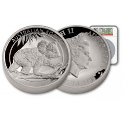 Perth Mint 5 oz silver KOALA 2016 High Relief PROOF NGC PF69 UC