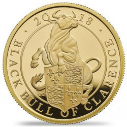 The Black Bull of Clarence 2018 UK One-Ounce Gold Proof Coin Mintage 400