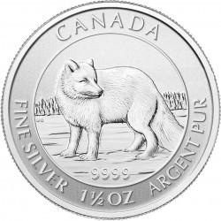 Silver 1 1/2 oz ARCTIC FOX 2014