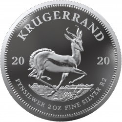 South Africa 2 oz silver KRUGERRAND 2020 PROOF box + coa Rand2