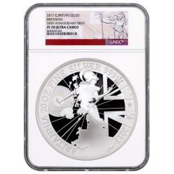 GB 20 oz silver BRITANNIA 2017 PROOF NGC PF70 UC Box + coa Mintage 350