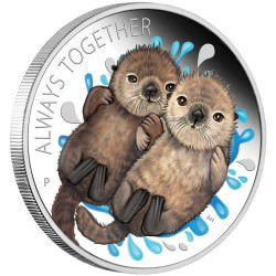 PM Always Together Otter 2020 1/2oz Silver Proof Coin