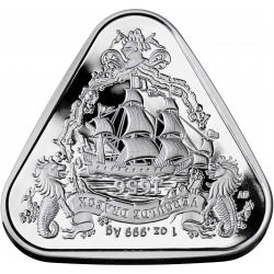 RAM 1 oz silver TRIANGULAR coin BATAVIA 2019