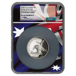Perth Mint 5 oz silver WEDGE-TAILED EAGLE 2018 High Relief NGC PF70 Ultra Cameo Box + Coa