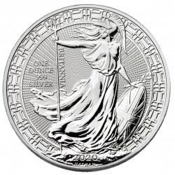 UK 1 oz silver BRITANNIA 2020 oriental border £2