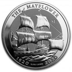1 oz silver MAYFLOWER 400th ANNIVERSARY 2020 BU $1