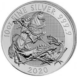 U.K. 10 oz The 2020 Silver Valiant Silver Bullion Coin