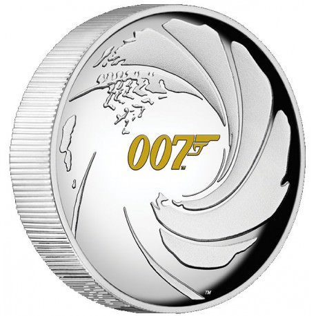 Perth Mint JAMES BOND 007 2020 1oz SILVER PROOF HIGH RELIEF COIN