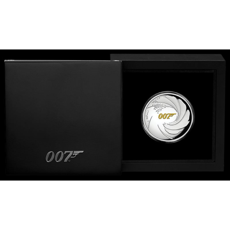 Wedding 2020 1oz Silver Proof Coin: Perth Mint JAMES BOND 007 2020 1oz SILVER PROOF HIGH