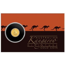 1/2 gr GOLD MINI ROO KANGAROO essay card