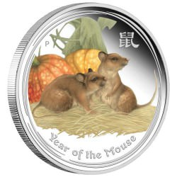 Perth Money Expo ANDA Special 2020 Year of the Mouse 2oz Silver Proof Coloured Coin
