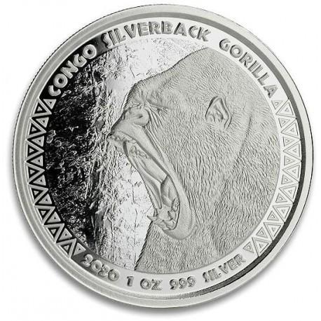 1 oz silver GORILLA CONGO 2019