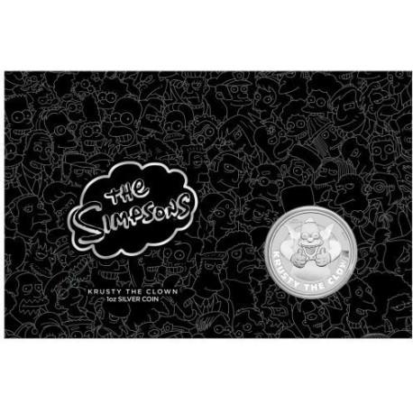 Perth Mint 1 oz silver SIMPSON KRUSTY THE CLOWN 2020 $1 BU