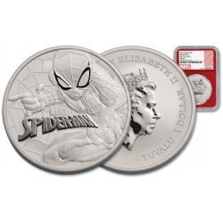 Perth Mint 1 oz silver 2017 MARVEL SPIDERMAN $1 NGC MS70 FS