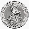 U.K. 2 oz silver QUEEN'S BEAST 2020 The WHITE LION of MORTIMER £5