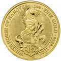 U.K. 1 oz gold QUEEN'S BEAST 2020 The WHITE LION of MORTIMER £100