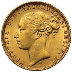 FULL GOLD SOVEREIGN 1872