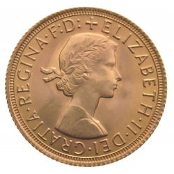 FULL GOLD SOVEREIGN 1962