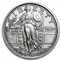 1/4 oz silver Standing Liberty