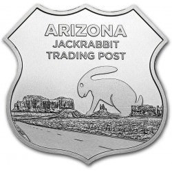 1 troy oz Silver - Icons of Route 66 JACK RABBIT TRADING POST