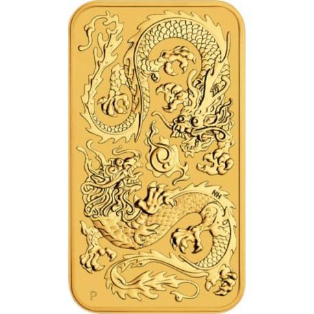 Perth Mint 1 oz RECTANGLE DRAGON $100 BAR 2020 GOLD