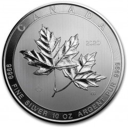 10 oz silver MAGNIFICENT MAPLE LEAF 2020 $50