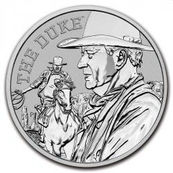 PM 1 oz silver JOHN WAYNE The Duke 2020 $1