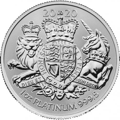 UK 1 oz PLATINUM ROYAL ARMS 2020 £100
