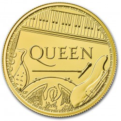 u.k. 1 oz GOLD Music Legends 2020 BU £100 QUEEN