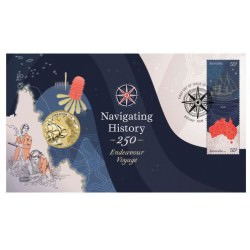 Navigating History - Endeavour Voyage 2020 Stamp and Coin Cover