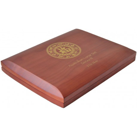 HQ Wooden Collector box for Perth Mint Lunar 3 - 1 oz silver coins