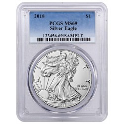 1 oz silver US EAGLE 2018 First Strike PCGS MS-69