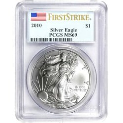1 oz silver US EAGLE 2018 PCGS MS-69