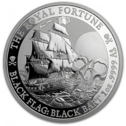 1 oz silver Black Flag 2019 The Royal Fortune $1