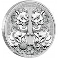 PM 1 oz silver GUARDIAN LIONS 2020 $1 DOUBLE PIXIU