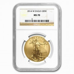 1 oz AMERICAN GOLD EAGLE 2014 W G$50 NGC MS70