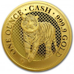 1 oz gold ST HELENA CASH TIGER 2019 Indian Wildlife BU