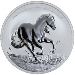 1 oz silver Australian BRUMBY HORSE 2020 $1 FIRST COIN OF THE SERIES