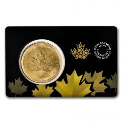 1 oz gold MAPLE LEAF 2015 carte titrage