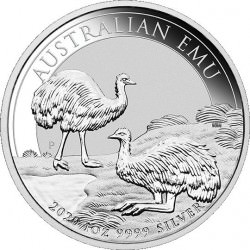 Perth Mint 1 oz silver EMU 2020