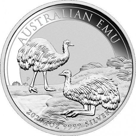 Perth Mint 1 oz silver EMU 2019