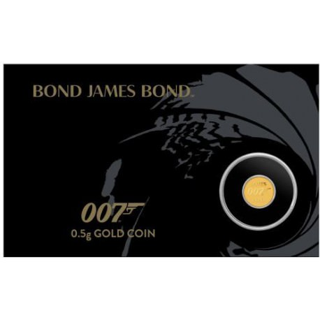 007 James Bond 2020 0.5g Gold Coin in Card