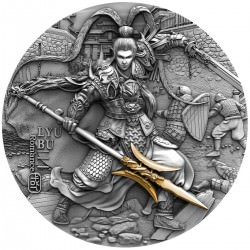 * Lyu Bu « Chinese Warriors » Tuvalu 2 oz 2020 High Relief Coa + Box
